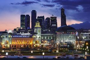Moskva-City Skyline at Dusk by Jon Hicks