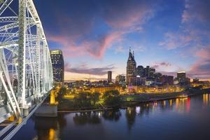 Nashville Skyline over the Cumberland River. by Jon Hicks