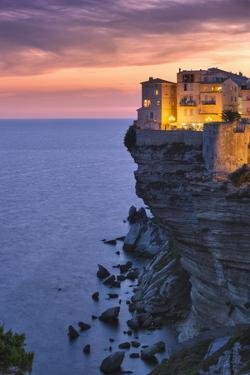 Old Town Buildings Perched on Cliff by Jon Hicks