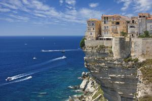 Old Town Buildings Perched on Cliffs by Jon Hicks