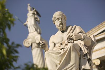 Plato Statue outside the Hellenic Academy by Jon Hicks