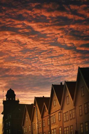 Row Houses in Bryggen by Jon Hicks