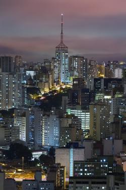 Sao Paulo Skyline at Night, Brazil. by Jon Hicks
