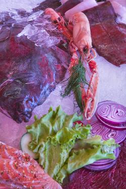 Seafood Display at Fish Market by Jon Hicks