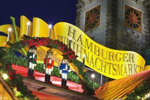 Sign at Hamburg Christmas Market by Jon Hicks