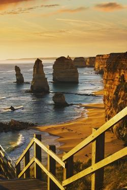 Stairway near Twelve Apostles at Sunset by Jon Hicks