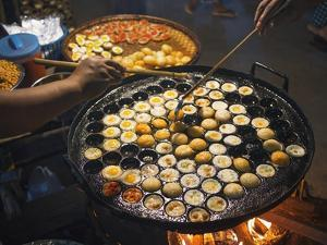 Street Food in a Mandalay Night Market by Jon Hicks