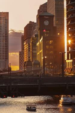 The Chicago River at Sunset. by Jon Hicks