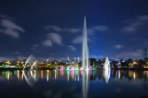 The Ibirapuera Park Fountain, Sao Paulo. by Jon Hicks