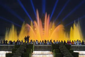 The Magic Fountain Light Show in Front of the National Palace, Barcelona. by Jon Hicks