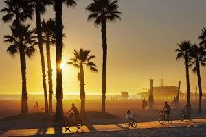 The South Bay Bicycle Trail at Sun Set. by Jon Hicks