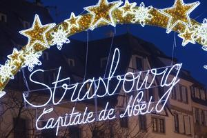 The Strasbourg, Capitale De No?L Sign in Strasbourg Christmas Market. by Jon Hicks