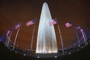 The Washington Monument at Night, Washington Dc. by Jon Hicks