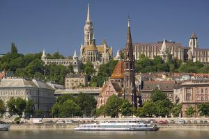 View of Castle District in Budapest by Jon Hicks