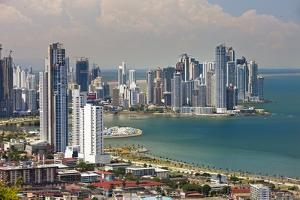 View of Panama City from Cerro Ancon. by Jon Hicks