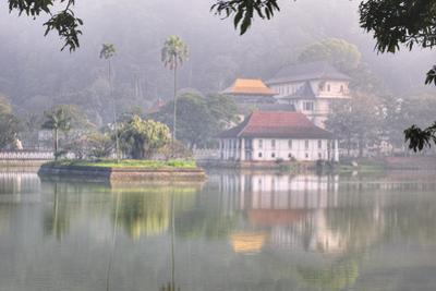 View of Temple across Kandy Lake by Jon Hicks