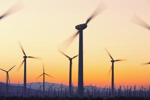 Wind Turbines near Palm Springs. by Jon Hicks