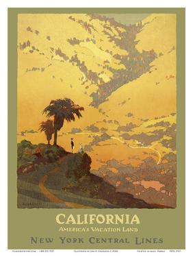 California - America's Vacation Land - New York Central Lines by Jon O. Brubaker