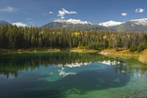 Fourth lake of valley of Five Lakes trail, Jasper National Park, UNESCO World Heritage Site, Canadi by Jon Reaves