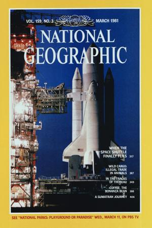Cover of the March, 1981 National Geographic Magazine by Jon T. Schneeberger
