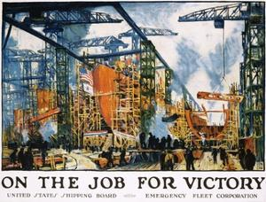 On the Job for Victory Poster by Jonas Lie