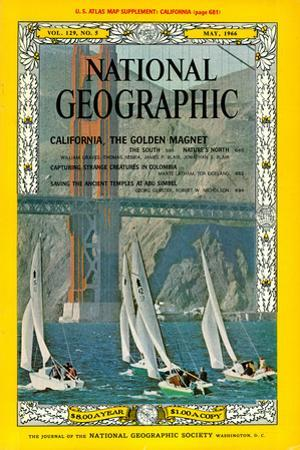 Cover of the May, 1966 National Geographic Magazine by Jonathan Blair