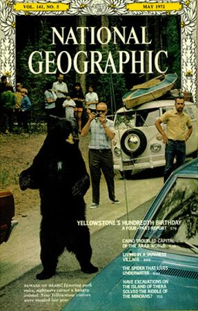 Cover of the May, 1972 National Geographic Magazine by Jonathan Blair