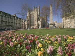 Gardens on East Side of Bath Abbey by Jonathan Hicks