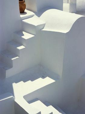 Stairway and Landing of a Whitewashed Church by Jonathan Hicks