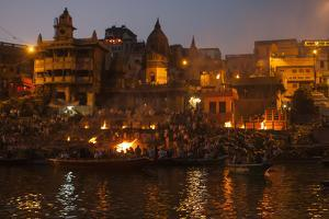 A Cremation on the Banks of the Ganges River by Jonathan Irish