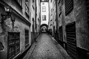 A Narrow Cobblestone Street in Stockholm's Old Town, Gamla Stan by Jonathan Irish