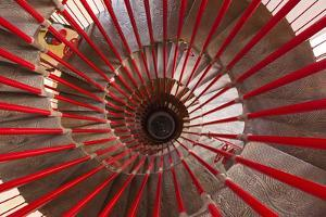 Looking Down the Spiral Staircase in the Tower of Ljubljana Castle by Jonathan Irish