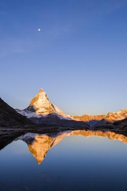 Matterhorn Mountain Reflected in Riffelsee Lake by Jonathan Irish