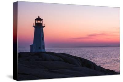 Peggy's Point Lighthouse and Rocky Coast at Dusk by Jonathan Irish