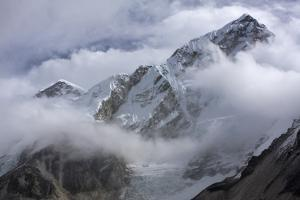 View of Lobuche Mountain in the Clouds by Jonathan Irish