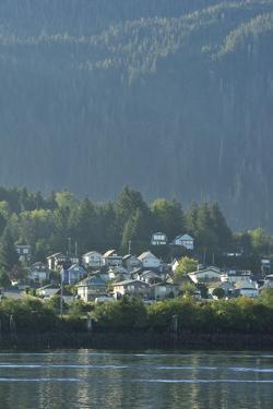 A Coastal Community at Prince Rupert. an Evergreen Forest Looms in the Distance by Jonathan Kingston