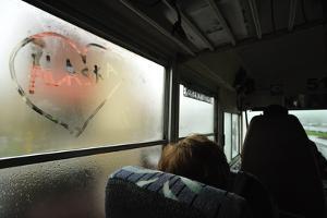 A Heart with the Word Alaska Written in It, on a Steamy Bus Window by Jonathan Kingston