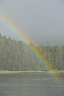 A Rainbow over the Waters of the Inside Passage by Jonathan Kingston