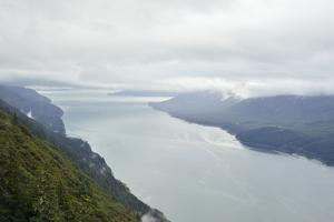 A View from Mount Roberts of Low Clouds Hover over Gastineau Channel by Jonathan Kingston