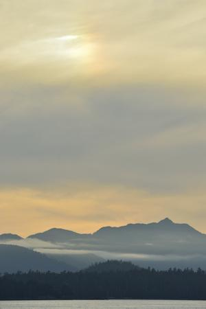 A View of Moresby Island from Hecate Strait at Sunset by Jonathan Kingston