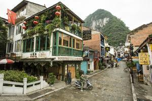 A View of West Street in Yangshuo, China by Jonathan Kingston