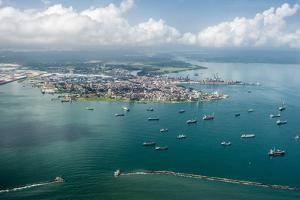 Aerial View of Limon Bay and the Port of Colon, Panama by Jonathan Kingston