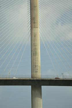 Cars Crossing the Centennial Bridge, Which Links the Sides of the Panama Canal by Jonathan Kingston