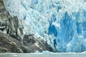 Close Up of the Deep Blue Ice Face of the Dawes Glacier by Jonathan Kingston