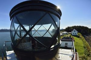 Close Up Wide Angle View of the Light Housing of Point Retreat Lighthouse by Jonathan Kingston