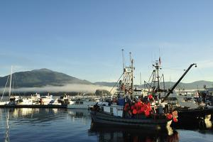 Fishing and Pleasure Boats Moored in Prince Rupert's Harbor by Jonathan Kingston
