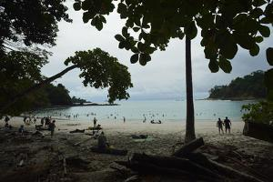 Half Moon Beach, in Manuel Antonio National Park, Costa Rica by Jonathan Kingston