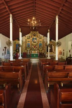 Interior of San Pedro Church on Taboga Island by Jonathan Kingston