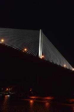 Night View of Panama's Centennial Bridge, Puente Centenario, from the Panama Canal by Jonathan Kingston
