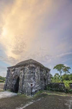 Pastel Sunset Over a Guard Tower, Fort San Lorenzo, Colon, Panama by Jonathan Kingston